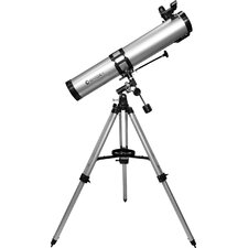 675 Power, 900114 Starwatcher Reflector Telescopes, EQ, Silver, Red Dot Finderscope, Astronomy Software