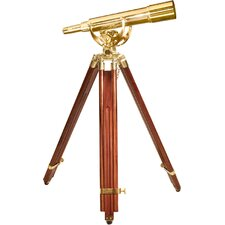 20-60X60 Spyscope, Anchormaster Telescopes with Mahogany Floor Tripod Statue