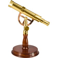 6X30 Spyscope, Anchormaster Telescopes with Mahogany Desktop Pedestal  Statue