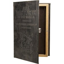 Key Lock Antique Book Safe