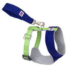 Mutt Gear™ Dog Comfort Harness in Blue and Green