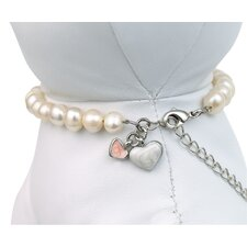 Unity™ Pet Necklace in White Pearls