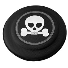 Flying Discs Dog Toy in Black Skull