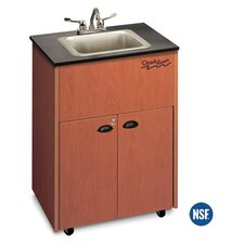 "Premier 26"" x 18"" Single Bowl Portable Sink with Storage Cabinet"