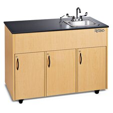 "Advantage 50"" x 24"" Portable Handwashing Station with Storage Cabinets"