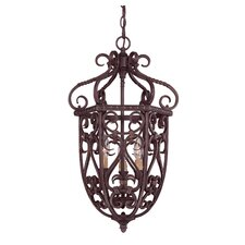 Tabatha 3 Light Cage Foyer Pendant
