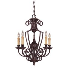 Ladoga 5 Light Chandelier without Glass