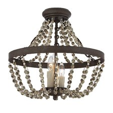 Mallory 3 Light Convertible Semi-Flush Mount