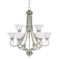 Adirondack 9 Light Chandelier