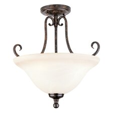 Brandywine 3 Light Semi Flush Mount
