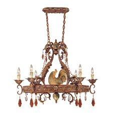 <strong>Savoy House</strong> Clyde Chandelier Pot Rack with 6 Light
