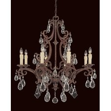 <strong>Savoy House</strong> Provenciale 8 Light Chandelier
