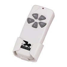 Non-Reverse Hand Held Fan / Light Remote Control in White