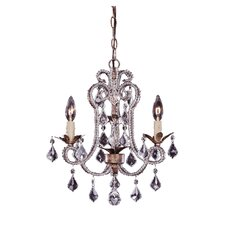<strong>Savoy House</strong> 3 Light Mini Chandelier
