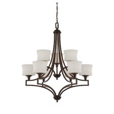 <strong>Savoy House</strong> Terrell 9 Light Chandelier