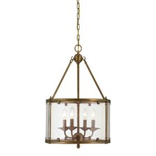 <strong>Savoy House</strong> Foxcroft 4 Light Foyer Drum Pendant