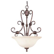 Brandywine 3 Light Bowl Inverted Pendant