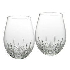 <strong>Waterford</strong> Lismore Nouveau Deep Red Stemless Wine Glass (Set of 2)