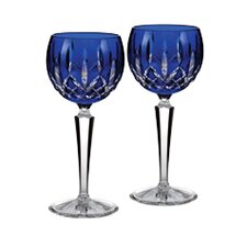 Lismore Cobalt Hock Glass (Set of 2)