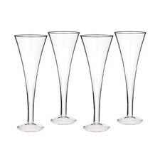 Vintage Classic Trumpet Flute Glass (Set of 4)