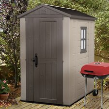 Factor 6ft. W x 4ft. D Resin Tool Shed