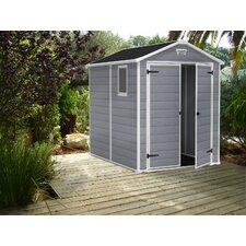 """Manor 6'1.1"""" W x 7'9.2"""" D Plastic Tool Shed"""