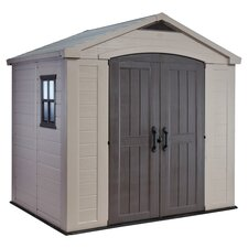 "Factor 8'5"" W x 6' D Resin Tool Shed"