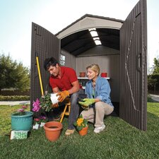 7ft. W x 7ft. D Plastic Storage Shed