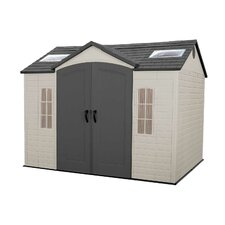 Side Entry 10 Ft. W x 8 Ft. D Plastic Garden Shed