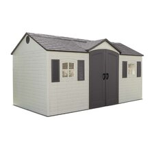 "Side Entry 14'8"" W x 7'8"" D Plastic Storage Shed"