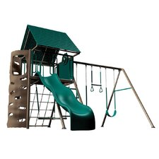 Earthtone Hard Top A-frame Swing Set