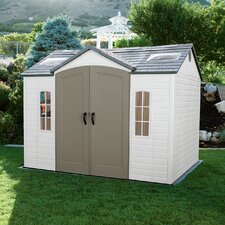 "Side Entry 9'8"" W x 7'8"" D Plastic Garden Shed"