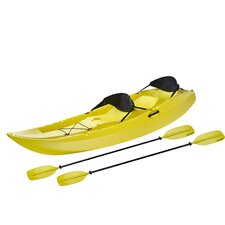 Manta Kayak with paddle and Back Rest in Yellow