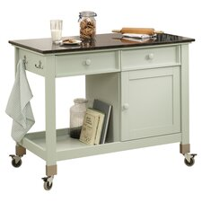 Original Cottage Kitchen Island Cart with Slate Top