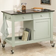 Original Cottage Kitchen Island with Slate Top
