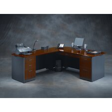 <strong>Sauder</strong> Via L-Shape Executive Desk Office Suite