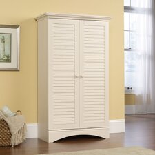 <strong>Sauder</strong> Harbor View Storage Cabinet in Distressed Antiqued White