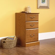 <strong>Sauder</strong> Orchard Hills Three Drawer Pedestal in Carolina Oak