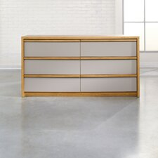 <strong>Sauder</strong> Soft Modern 6 Drawer Dresser