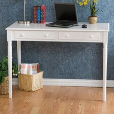<strong>Wildon Home ®</strong> Hull Crisp White 2-Drawer Writing Desk