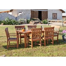 Dabney 7 Piece Dining Set with Arm Chairs