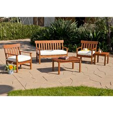Dabney 5 Piece Deep Seating Group with Cushion