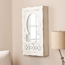 Davida Shabby Elegance Wall Mount Jewelry Mirror Armoire