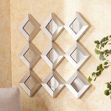 <strong>Wildon Home ®</strong> Hutton Decorative Mirrored Squares Wall Sculpture