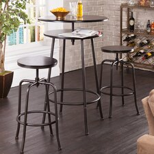 Holly and Martin Kalomar 3 Piece Adjustable Pub Table and Stools