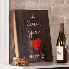 "<strong>Wildon Home ®</strong> Holly and Martin Swoon Wall Panel  ""I Love You More"" Print"