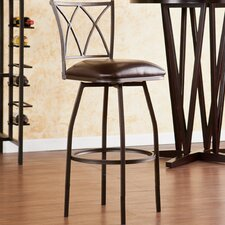Albertson Swivel Bar Stool with Cushion