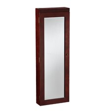 Tawny Lighted Wall Mounted Jewelry Armoire Mirror