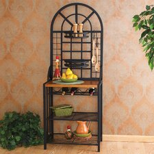 Open Box Price Heights Bakers Rack in Black