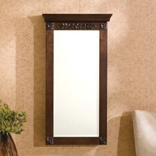 <strong>Wildon Home ®</strong> Franklin Wall Mounted Jewelry Armoire with Mirror